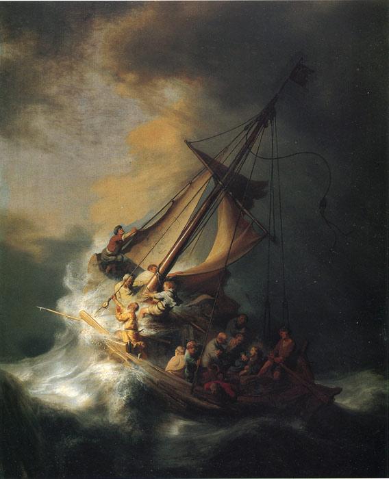 レンブラント ガリラヤ湖の嵐の中のキリスト